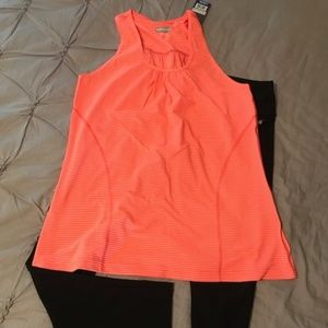 Orange Stripped Workout Tank